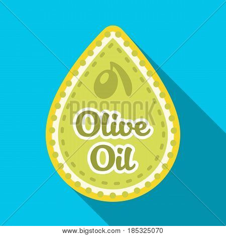 Label of olive oil.Olives single icon in flat style vector symbol stock illustration .