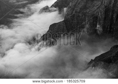 Textures of the Drakensberg escarpment in South Africa