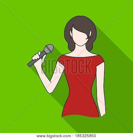 Singer.Professions single icon in flat style vector symbol stock illustration .