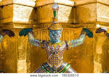Giant At Wat Prakeaw Temple, Gland Palace, Thailand