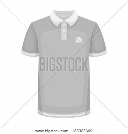 Uniform shirt for golf.Golf club single icon in monochrome style vector symbol stock illustration .