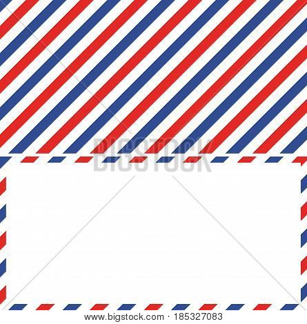 air mail background and frame of the envelope of a letter mail, vector illustration for postage