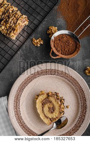 Chocolate Creamy Roulade