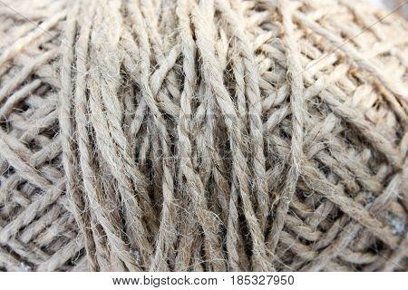 Thread skein. Background texture. Photo for your design