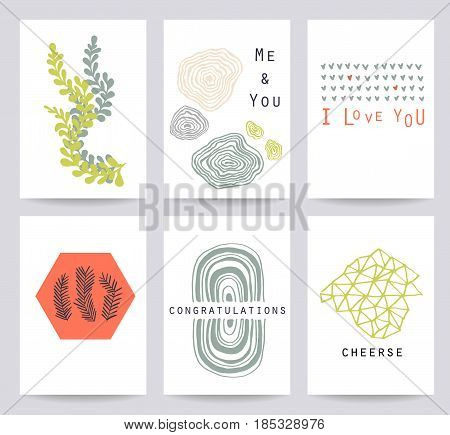 Set Of 6 Creative Universal Cards.