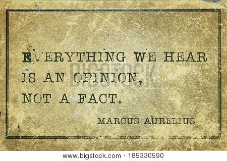 Not A Fact Maurelius