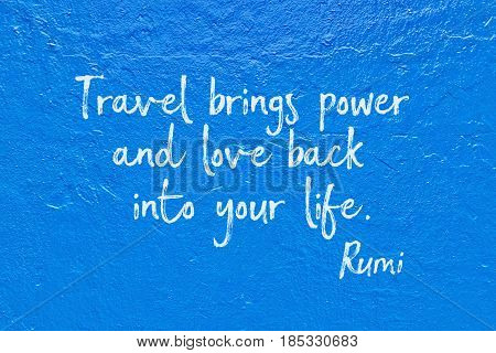 Travel Brings Rumi