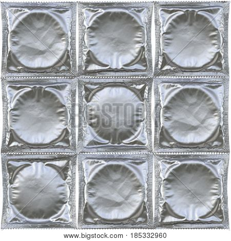 Condoms isolated on white background. 3D illustration.