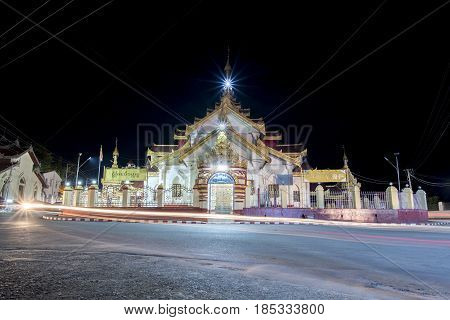 Maha Myat Muni temple Keng tung chiang tung famous temple place for worship traffic circle guage center of chiang tung in shan state myanmar