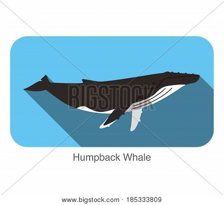 Humpback Whales Swimming In The Sea, Animal Flat Icon