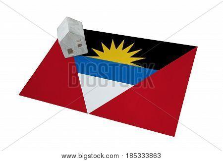 Small House On A Flag - Antigua And Barbuda