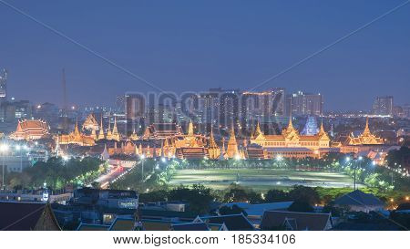 Bangkok Thailand temple ( Wat Phra Kaew ) is regarded as the most sacred Buddhist temple (wat) in Thailand. The Emerald Buddha housed in the temple is a potent religio-political symbol and the palladium of Thai society. It is located in Phra Nakhon Distri