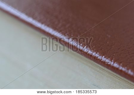 Background dividing diagonally into two halves the upper one - burgundy with the texture of the skin the lower one - light beige slice of the bookish villages