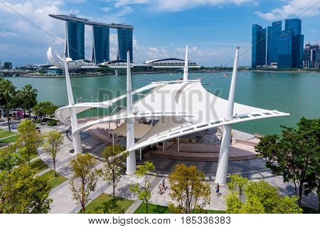 Singapore - July 10: Singapore Business Buildings Area On July 10, 2015 In Singapore. Singapore Is A