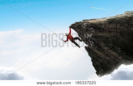 Extreme climbing is his adrenaline
