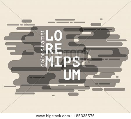 Minimalistic cover or brochure design. Flyer, booklet, annual report template. modern abstract background. Vector stock illustration