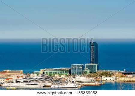 Barcelona coast overlook, Catalonia, Spain