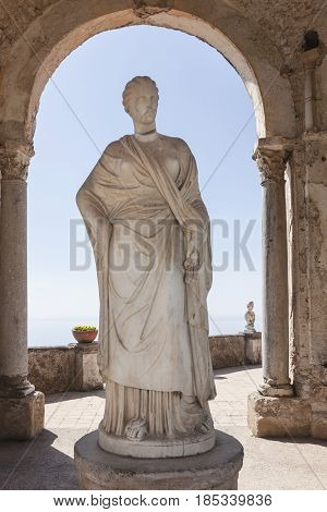 Statue of Ceremony near Villa Cimbrone in Ravello on the Amalfi Coast to understand a concept of culture and tourism