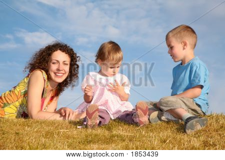 Mom With The Children