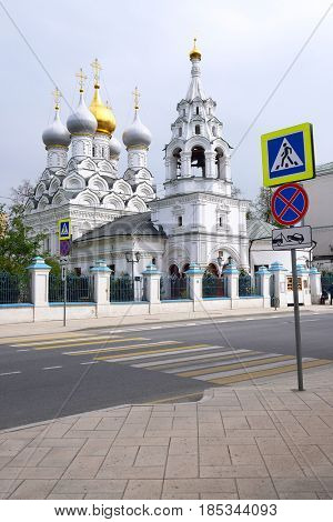 Church on Ordinka str. in the center of Moscow