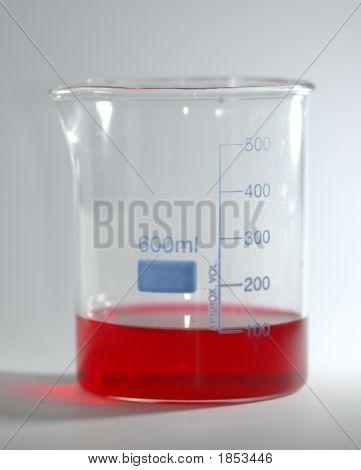 Beaker Of Red Liquid