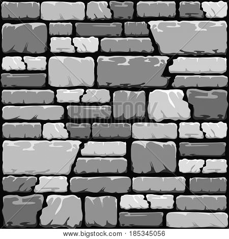 Grey stone wall background in cool tones.