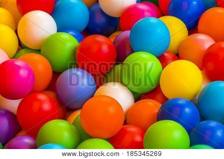 Holiday, Children's Party, A Games Room, A Box Filled With Small Colored Balls