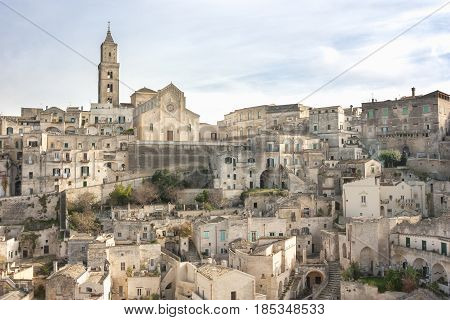 View of the Sassi of Matera to understand a concept of culture and tourism
