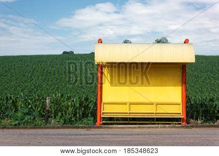 Rural Bus Stop - Landscape - Scene
