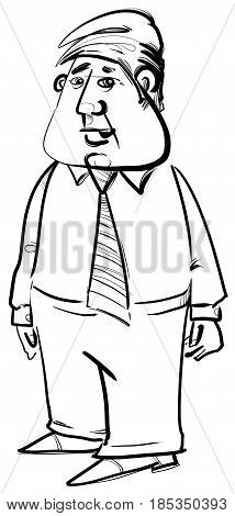Black And White Businessman Sketch