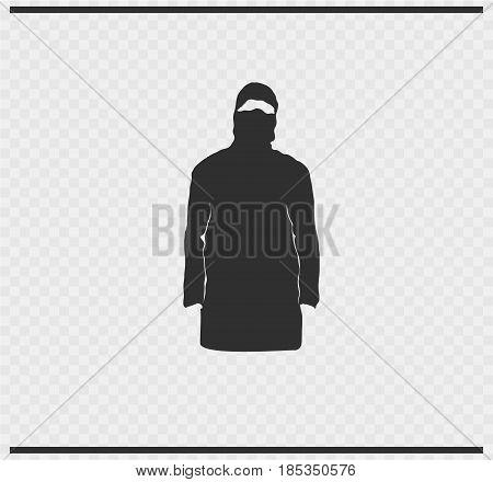 veil icon black color on transparent background