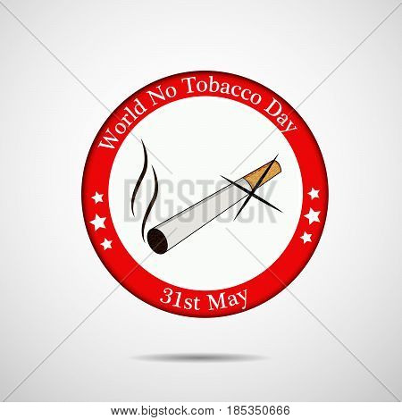 illustration of Cigarette with world no tobacco day text