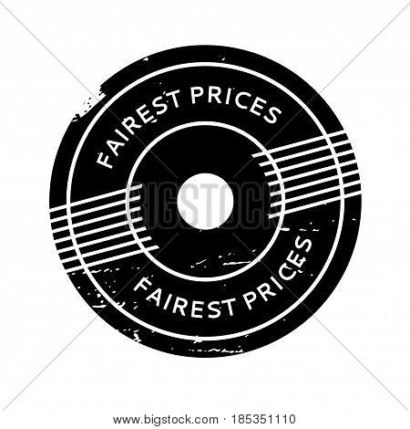 Fairest Prices rubber stamp. Grunge design with dust scratches. Effects can be easily removed for a clean, crisp look. Color is easily changed.
