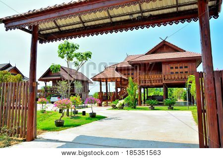 Typical Thai house can see anywhere in Thailand