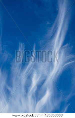 Blue sky with tiny clouds as a background