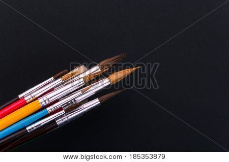 colorful paint brushes school suppliesspecial artistic equipment