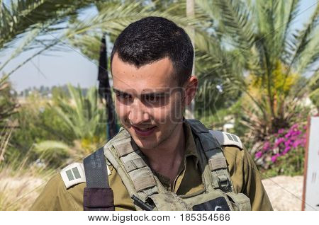 Unidentified Israeli Junior Officer (first Lieutenant) At Latrun Armored Corps Museum