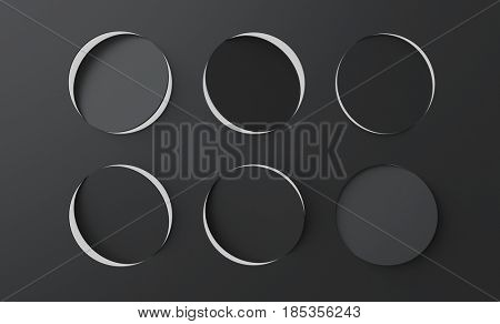 black surface with perforation circle holes
