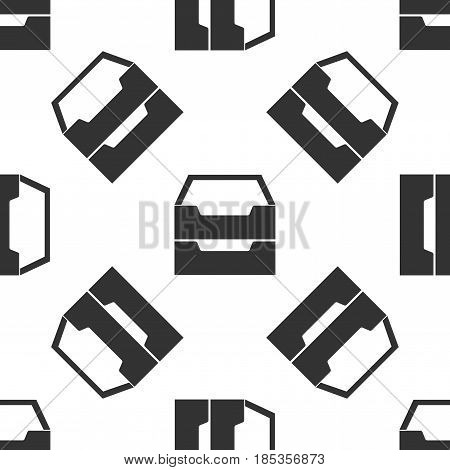 Document inbox icon seamless pattern on white background. Vector Illustration