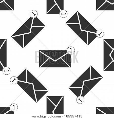 Received message concept. New, email incoming message, sms. Mail delivery service. Envelope icon seamless pattern on white background. Vector Illustration