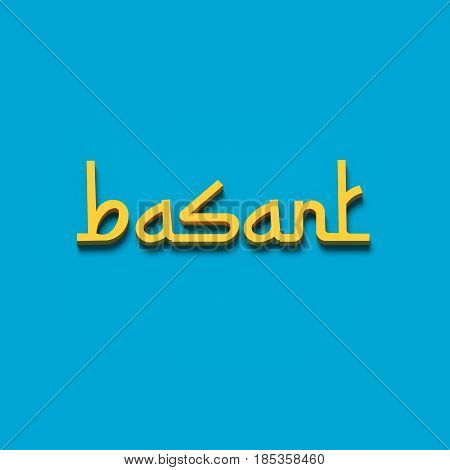 3D RENDERING WORDS 'basant' (KITE FESTIVAL IN INDIA AND PAKISTAN)