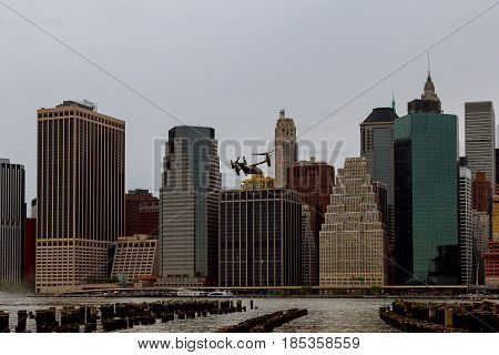 New York City - May 04, 2017 New York City Manhattan Marine Helicopter Squadron One Hmx-1 Is Respons