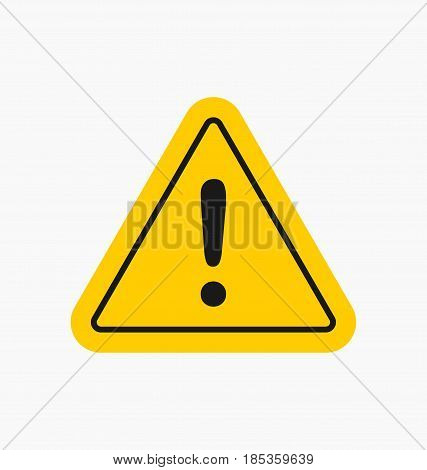 Caution Icon / Sign In Flat Style Isolated. Warning Symbol For Your Web Site, Logo, App, Ui Design.