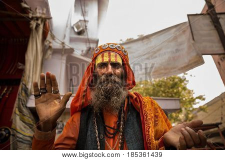 Sadhu in Pushkar, India