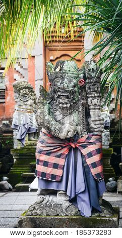 Decoraions At Hindu Temple In Bali, Indonesia
