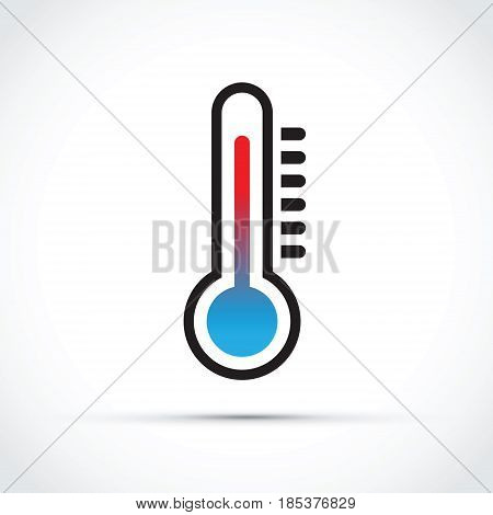 a colourful red and blue Thermometer abstract icon