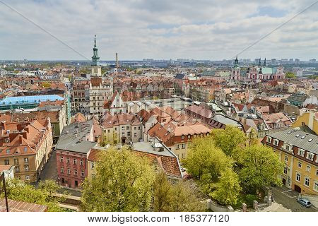Poznan, Poland - April 30, 2017: View Of The Old Town On 30 Apri