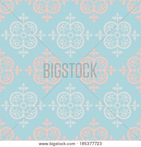 Colorful Decorative Seamless Background Patterns with Arabesque Ornaments. Vector Illustration. Pattern Swatch