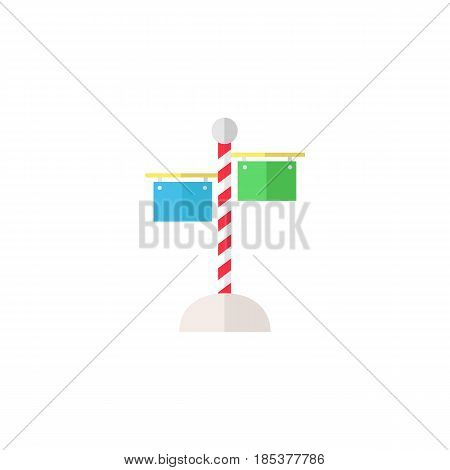 Signpost flat icon, travel navigation, Road sign, a solid colorful pattern on a white background, eps 10.