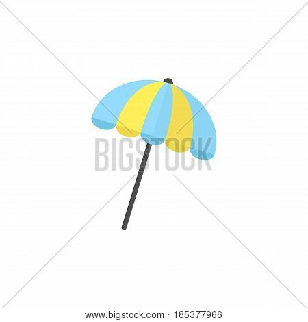 Sun umbrella flat icon, travel tourism, parasol, a colorful solid pattern on a white background, eps 10.